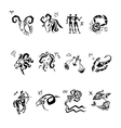 Horoscope Zodiac Star signs set vector image vector image