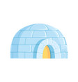 igloo icy cold house winter built from ice vector image