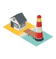 Isometric lighthouse Building 3d icon vector image