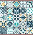lisbon geometric azulejo tile pattern vector image