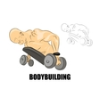male African-American with dumbbells vector image vector image