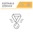 medal line icon vector image vector image