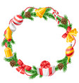 merry christmas decorative wreath vector image