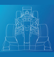 model speed car abstract drawing tracing vector image vector image