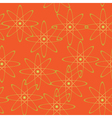 orange geometric seamless texture vector image vector image