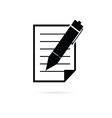 paper with pen vector image vector image