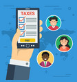 paying taxes online vector image