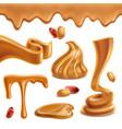 peanut butter realistic set vector image