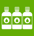 printer ink bottles icon green vector image vector image