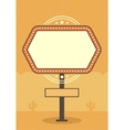 Retro Sign Billboard Typographic Promotion Poster vector image vector image