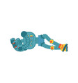 robot sleeping cyborg asleep emotions robotic man vector image