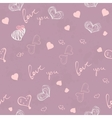 Seamless texture for Valentines Day vector image