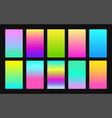 set gradient backgrounds neon color vector image vector image