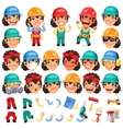 Set of Cartoon Lady Worker Character for Your vector image vector image