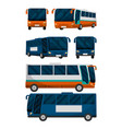 set of public buses vector image