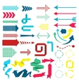 Set of web elements in modern material design vector image