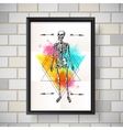 skeleton sketch poster vector image