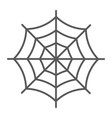 spider web thin line icon halloween vector image vector image