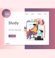 study website landing page design template vector image