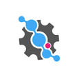 techno - logo template concept vector image vector image