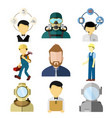 various working people set vector image