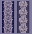vertical lace seamless border - set vector image vector image
