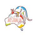 visit australia 2019 merchandise vector image