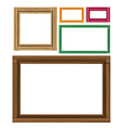 Wooden colored vintage frames vector image vector image