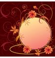 floral ornate frame vector image