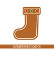 gingerbread christmas sock vector image
