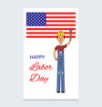 labor day design a man in a working vector image