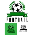 Set of football or soccer emblems vector image