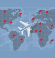 international air travel vector image