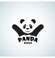 Panda Hugs Abstract Emblem or Logo Template vector image