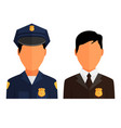 police officer avatar trendy policeman icon in vector image
