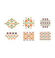 abstract geometric patterns set vector image vector image