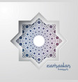 abstract mandala pattern element design with vector image vector image
