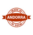 andorra stamp design vector image vector image