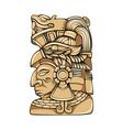 aztec statue head vector image