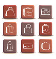 bags and suitcases doodles on buttons vector image vector image