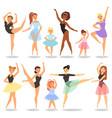ballet dancer ballerina character dancing vector image
