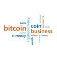 bitcoin text vector image vector image