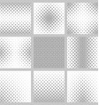 Black and white star pattern design set vector image vector image