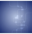 blue abstract background with glowing light vector image vector image