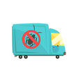 blue exterminator truck pest control service vector image vector image