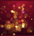 bokeh blur color abstract background with lights vector image vector image