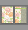 bright floral cover template vector image vector image