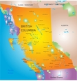british columbia province map vector image vector image