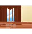 brown curtains vector image vector image