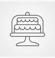 cake icon sign symbol vector image vector image